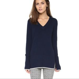 Rag&bone Navy Flavia V-Neck Cashmere Sweater